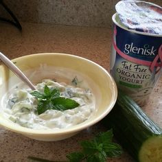 @_maymelanie Cucumber and mint with #Glenisk Organic Natural Yogurt #showusyouryogurt