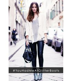 @Who What Wear - #YouHadMeAtGlitterBoots  Photo courtesy of Stockholm Street Style