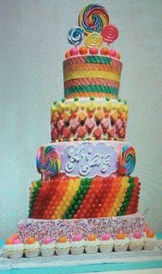 Candy cake.