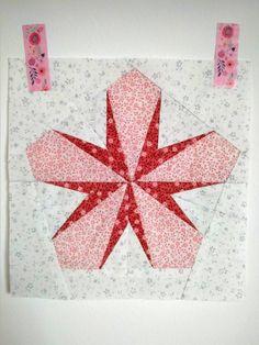 Pattern Release – Sakura: A Cherry Blossom Quilt Block (Blossom Heart Quilts White Cherry Blossom, Cherry Blossom Season, Modern Quilting, Quilting Patterns, Panda Quilt, Heart Quilts, White Cherries, Crochet Quilt, Japanese Fabric