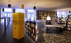 Library signage designed by Ozgen Design--vertical