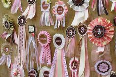 Pony themed birthday party - Best in show, 3 for here birthday year, Show ribbons and Pony go hand in hand.