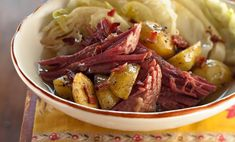 Best meat recipes for dinner main dishes garlic Ideas Meat And Potatoes Recipes, Beef And Potatoes, Meat Recipes For Dinner, Cabbage Recipes, Corned Beef Brisket, Corned Beef Recipes, Meat Appetizers, Corn Beef And Cabbage, Beef Dishes