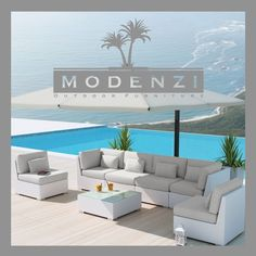 """Awesome """"patio furniture sets"""" detail is available on our internet site. Read more and you wont be sorry you did. White Patio Furniture, Teak Garden Furniture, Weathered Furniture, Outdoor Wicker Furniture, Wicker Sofa, Chaise Chair, Porch Decorating, Ebay, Modern Patio"""