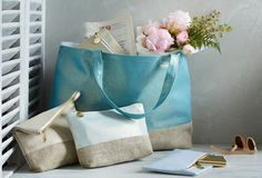 Athena/Gold Luxe Colorblock Marché Tote | Treat Yourself | One Kings Lane
