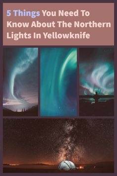 5 essential things you need to know about the northern lights in Yellowknife. Best time to view them, where to find the Aurora Borealis and more. Moving To Canada, Canada Travel, Northern Lights Canada, Yellowknife Canada, World Travel Guide, Northwest Territories, Ways To Travel, Ultimate Travel, Travel Light