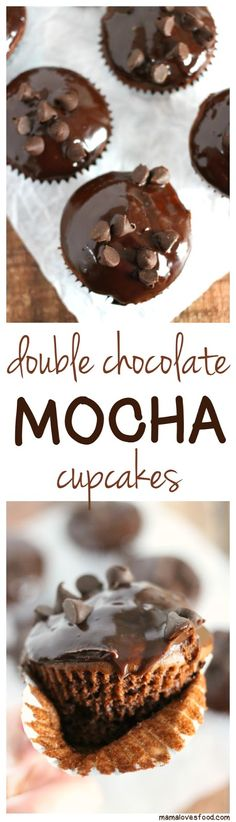 Double Chocolate Mocha Cupcakes - add a few ingredients to your box cake mix to make these delicious cupcakes!