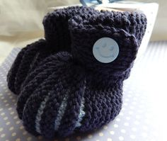 A personal favourite from my Etsy shop https://www.etsy.com/uk/listing/209100374/knitted-baby-booties-in-blue-baby-boy