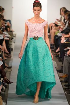oscar de la renta spring 2013 gown