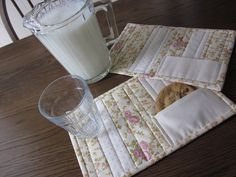 Shabby Chic Quilted Mug Rugs With Cookie by thePATchworksshop