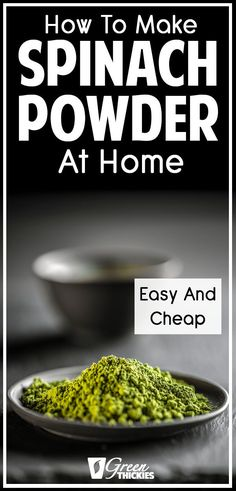 How To Make Spinach Powder At Home (Easy And Cheap). Spinach is a natural source of fat-busting compounds, and using spinach powder means you can absorb higher amounts of these to speed up your weight loss in a healthy, sustainable way. Fruit Smoothie Recipes, Smoothie Ingredients, Smoothie Diet, 30 Day Low Carb Diet, Low Carb Diet Plan, Raw Vegan Recipes, Organic Recipes, Healthy Recipes, Vegan Food
