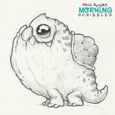 Cute art by Chris Ryniak - morning scribbles