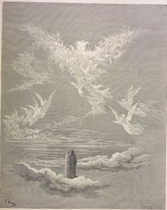 Paradise: The just souls form the shape of an eagle  Creator: Doré, Gustave  Date: c.1868