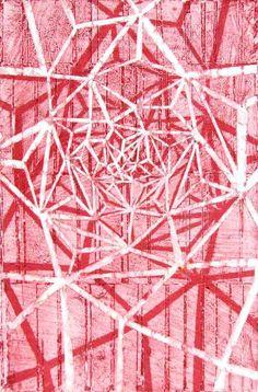 "FGPP #8, 2011, watercolor monoprint, 24"" x 18"""