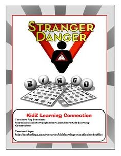 Stranger Safety Bingo- Stranger safety rules and practices presented in a bingo game format! Primary Classroom, Classroom Activities, Activities For Kids, Learning Resources, School Resources, Learning Games, Teaching Ideas, Health And Physical Education, Stranger Danger