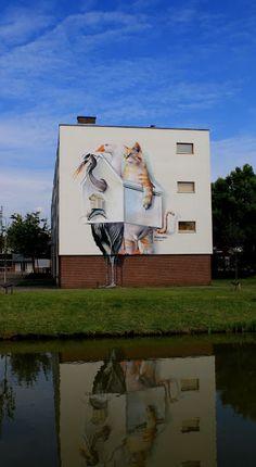 Wall paints, Muurschilderingen, Peintures Murales,Trompe-l'oeil, Graffiti, Murals, Street art.: Goes - Netherlands