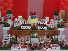 Mesa festa Branca de Neve