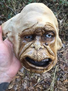 Wood Carving Creature Rustic Decor Wood Spirit Hand Carved