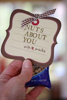 """Nuts about you"" DIY Valentine. My Funny Valentine, Valentine Day Crafts, Love Valentines, Holiday Crafts, Holiday Fun, Valentine Ideas, Holiday Ideas, Teacher Valentine, Valentine Party"