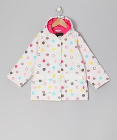 Love this White Polka Dot Raincoat - Infant, Toddler & Girls on #zulily! #zulilyfinds