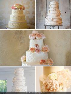 #Pink & #White wedding #cakes