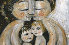 mother and child art - moments of motherhood captured in paint on canvas. Original art for sale, featuring mother and son, mother and daughter, family portraits and emotion. Print Image, Morris, Original Art For Sale, Mother And Father, Art For Kids, Paper Art, Illustration, Artwork, Pony