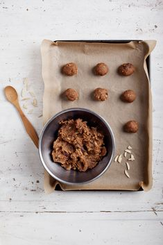 // ginger, almond & date biscuits. kenko kitchen.