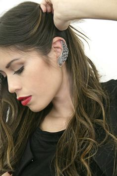 EARRINGS SOI LOCA BY NES  DIAMONDS AND SILVER