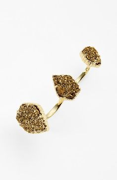 Kendra Scott 'Naomi' Double Finger Ring available at #Nordstrom, small, iradescent