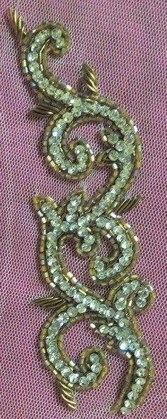 Hand work Zardozi Embroidery, Tambour Embroidery, Bead Embroidery Patterns, Couture Embroidery, Silk Ribbon Embroidery, Embroidery Fashion, Beaded Embroidery, Embroidery Stitches, Embroidery Designs