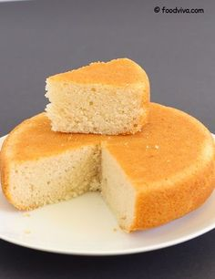 This Vanilla Sponge Cake Recipe Explains How to Make Soft Vanilla Flavored Eggless Sponge Cake at Home With Step By Step Photos.