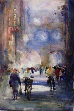 fealing lin watercolors | Fealing Lin Watercolors: Traffic