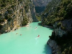 Provence, France. The color of that water is ridiculous. Gorges Du Verdon??
