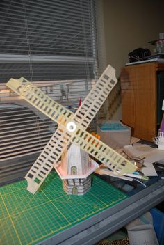Request on my grandson, Ethan, for a paper windmill with the working blade. Totally designed within the cricut design space application.
