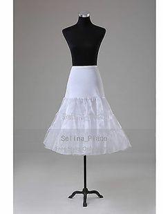 White Tea Length Swing Vintage Crinoline Petticoat Womens Skirts Silps Tutu 50s | eBay