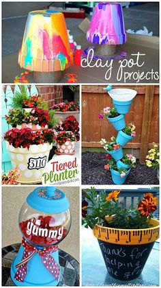 Creative Clay Pot Crafts and Projects - Garden and home DIY ideas! | http://CraftyMorning.com