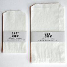 Glassine bags  (Photo: Knot & Bow)