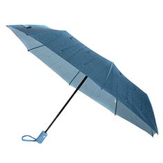 UV Protective Easy Open Automatic Umbrella Blue -- Click image for more details.