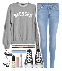 Untitled #2 by cjsteahly on Polyvore featuring moda, Private Party, 7 For All Mankind, Converse, Forever 21, Clarins, Lancôme and Kester Black