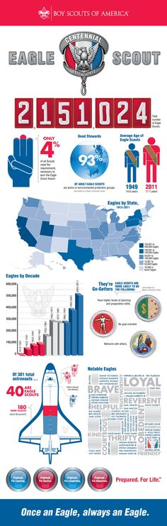 This is a great looking infograph from the Boy Scouts of America.