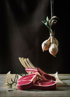 still-life paper food by fideli sundqvist / food art
