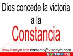 Dios concede la victoria a la Constancia #visocym