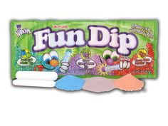 *FUN HOT & SPICY FOOD FACT/TIP* the Fun Dip sticks will stop the heat from any pepper. I crush the sticks into small pieces. After eating my favorite ghost pepper salsa, I just pop in a piece of the fun dip stick and BAM! The heat is gone. 80s Candy, Tinder App, Nostalgic Candy, Fun Dip, Candy Companies, Best Dating Apps, Colorful Candy, Willy Wonka, Favorite Candy