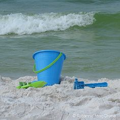 blue pail and the waves...heavenly