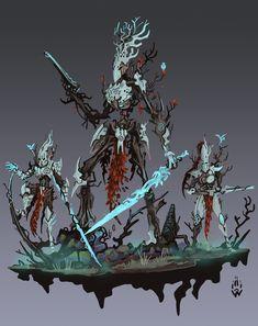 Eldar 40k, Warhammer Eldar, Dark Eldar, Warhammer Fantasy, Fantasy Character Design, Character Art, Warhammer Wood Elves, Wood Elf, Warhammer 40k Miniatures