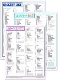 Naturally Creative Mama Grocery List Printable  Organization