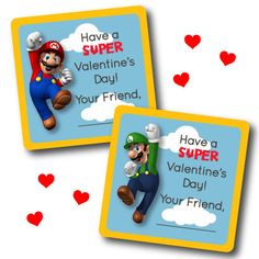 INSTANT DOWNLOAD - Super Mario Bros Fill-In VALENTINES