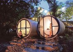 Resort in Sungai Lembingeight has units of 2m by 3m concrete pipe in the orchard, to complement the six rooms available at the main building. See http://www.nst.com.my/node/53651