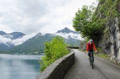 Mountain biking on Giro del Lago di Ledro Trail by gabrielesala78
