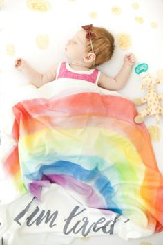Organic cotton swaddle. Rainbow baby. Rainbow interior design. Rainbow products. Baby gift. Girl's nursery.